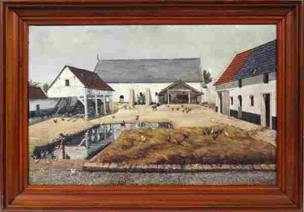 G. VANRAE BELGIAN OIL CANVAS 19TH.C.