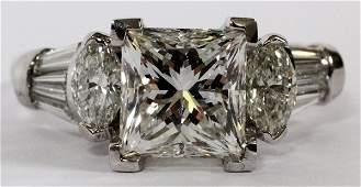 301CT PRINCESS CUT DIAMOND RING GIA SIZE 725