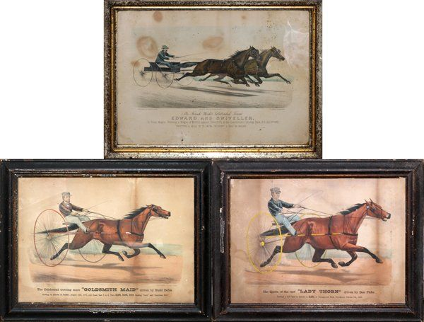 CURRIER IVES HAND COLORED LITHOGRAPHS