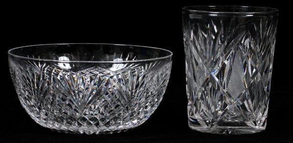 CUT GLASS TUMBLERS & FINGER BOWLS C. 1900 18 PIECES