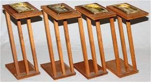 MODERN TEAKWOOD NESTING TABLES SET OF FOUR