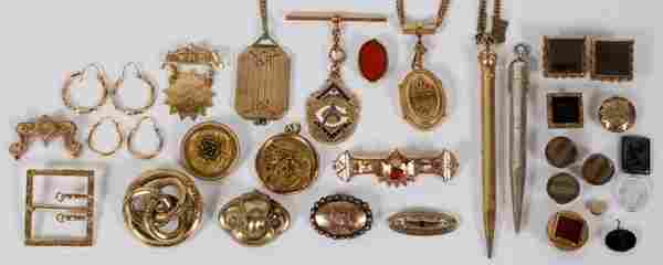 VICTORIAN & EDWARDIAN JEWELRY 30 PIECES