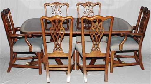 Baker Historic Charleston Mahogany Dining Table See Sold Price