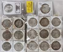 U.S MORGAN/PEACE LIBERTY HEAD $1. COINS 1896-