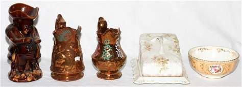 ENGLISH PORCELAIN AND POTTERY COLLECTION 5 PIECES