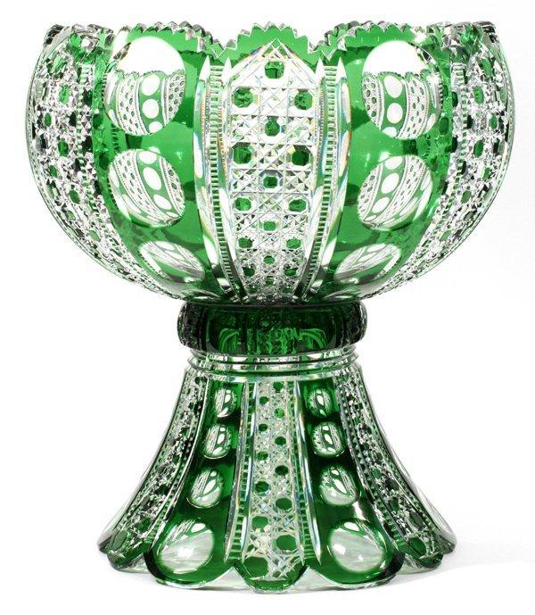 DORFLINGER 'MONTROSE'  GLASS PUNCHBOWL SET C. 1900 - 3