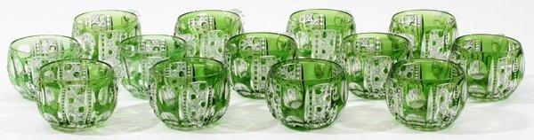 DORFLINGER 'MONTROSE'  GLASS PUNCHBOWL SET C. 1900 - 5