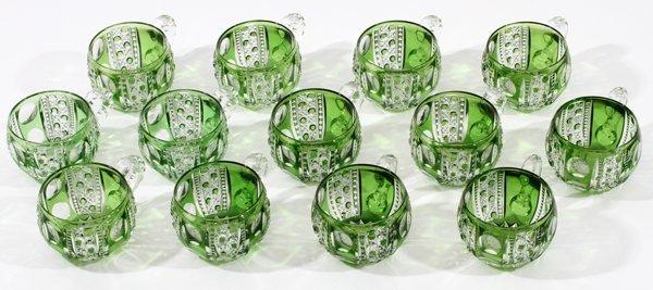 DORFLINGER 'MONTROSE'  GLASS PUNCHBOWL SET C. 1900 - 6