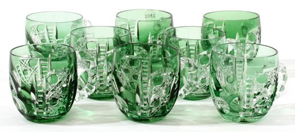 DORFLINGER GLASS DEMI TASSE CUPS SET OF EIGHT