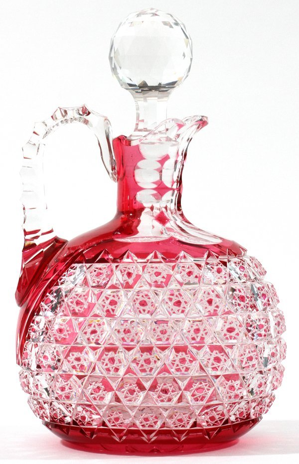 ATTRIBUTED TO DORFLINGER GLASS CRUET C. 1900