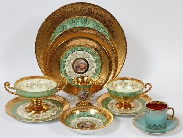 PLATINUM AND GOLD DECORATED BOHEMIAN DINNERWARE - 4