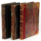 LEATHER BOUND BOOKS ILLUSTRATED BY DORE 19TH C