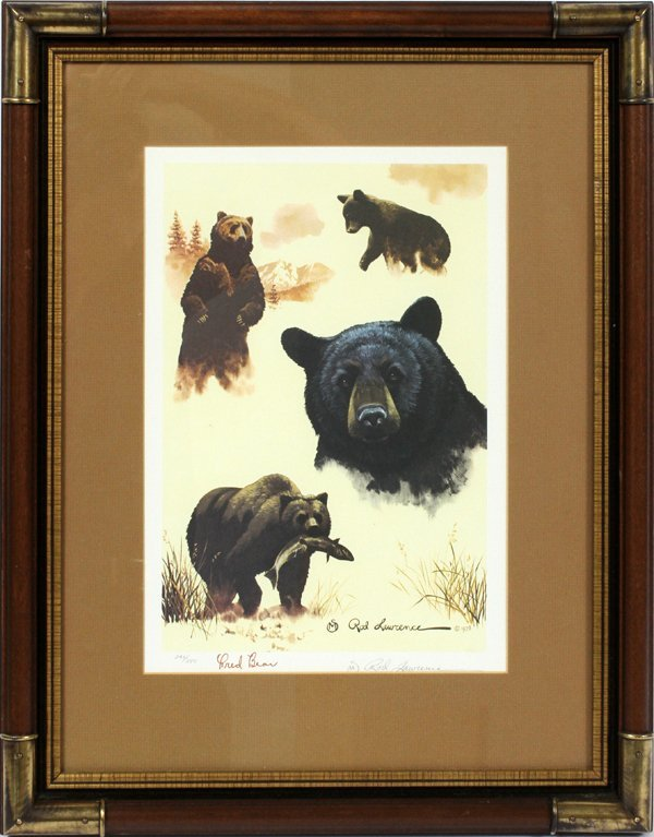 FRED BEAR AUTOGRAPHED COLOR PRINT #242/250