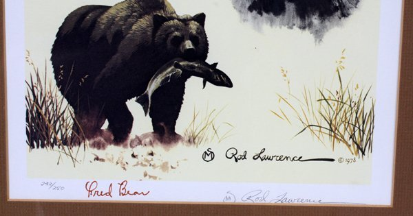 FRED BEAR AUTOGRAPHED COLOR PRINT #242/250 - 2