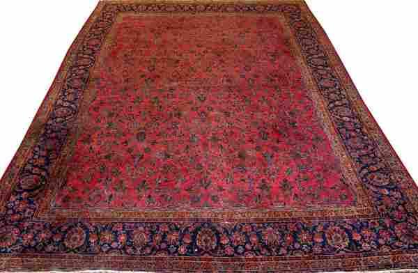 PERSIAN SAROUK WOOL HAND WOVEN CARPET