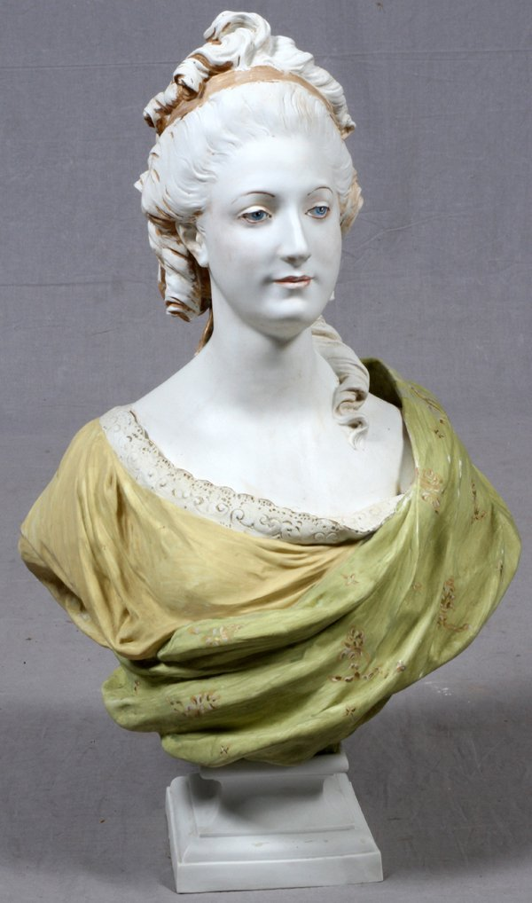 LABATUT FRENCH BISQUE BUST OF A LADY