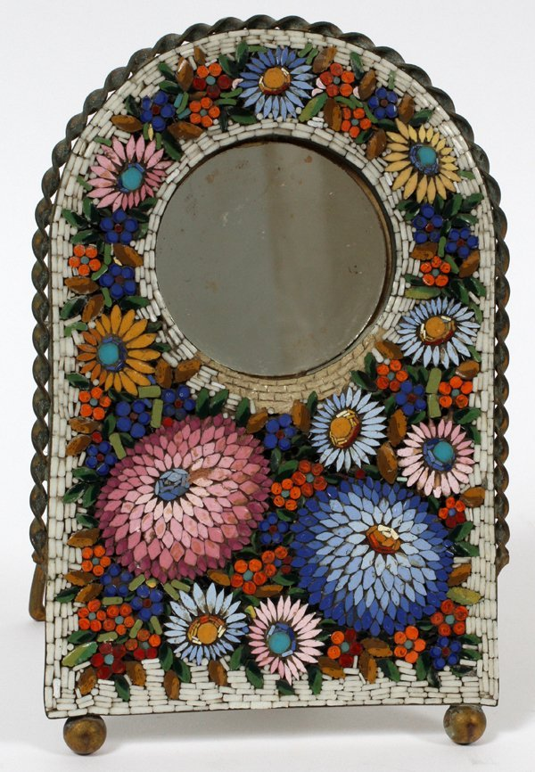 ITALIAN MICRO-MOSAIC EASEL BACK PICTURE FRAME