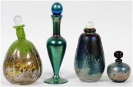 CONTEMPORARY ART GLASS PERFUME BOTTLES C 1981