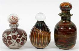 CONTEMPORARY ART GLASS PERFUME BOTTLES 197981