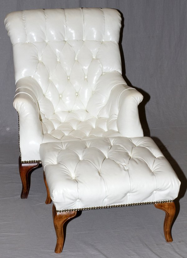 CARL FORSLUND SLEEPY HOLLOW CHAIR AND OTTOMAN