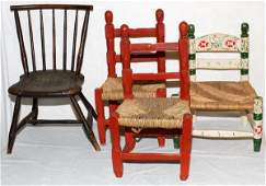 VINTAGE CHILDRENS CHAIRS 4 PIECES