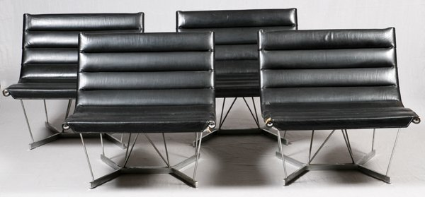 GEORGE NELSON & ASSOCIATES CATENARY LEATHER CHAIRS