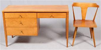 PAUL MCCOBB DESK AND CHAIR CIRCA 1950S