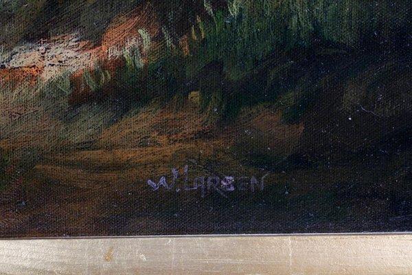 W. LARSEN OIL ON CANVAS - 2