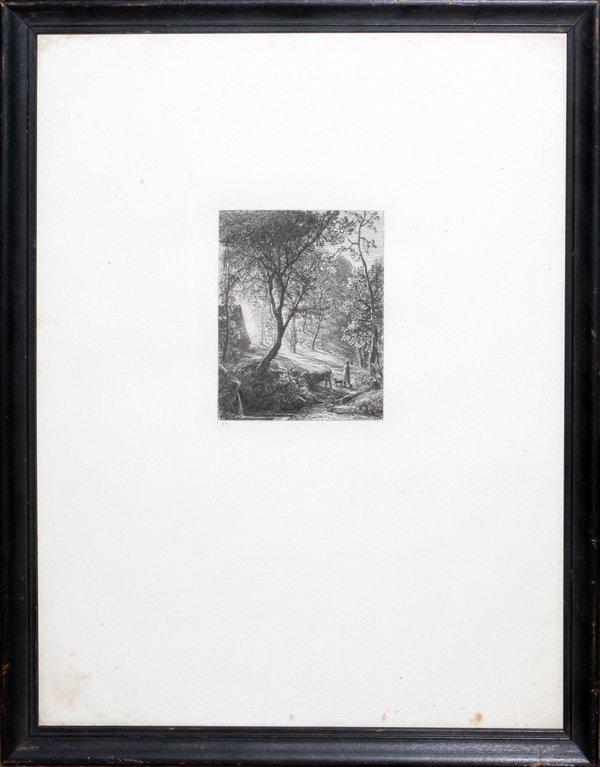 SAMUEL PALMER ETCHING C. 1858