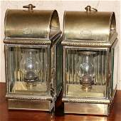 DAVEY & CO. OF LONDON ENGLAND BRASS LANTERNS PAIR