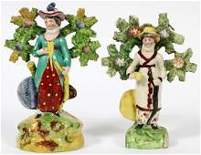 ENGLISH PORCELAIN FIGURES OF LADIES 19TH C TWO