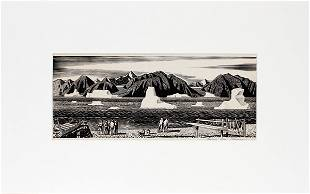 ROCKWELL KENT INK DRAWING ON PAPER
