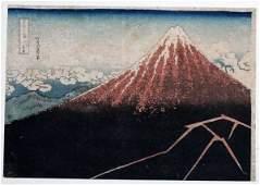KATSUSHIKA HOKUSAI WOODBLOCK PRINT C 1830