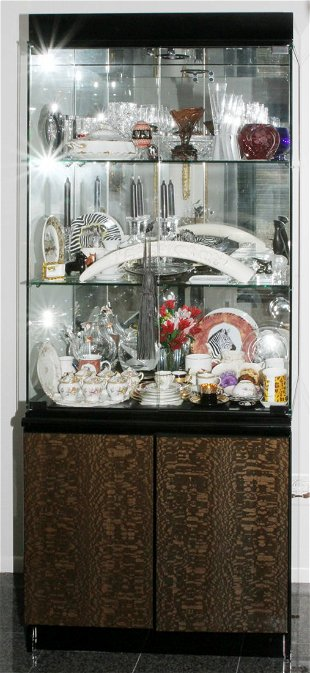 Giorgio Collection Italian China Cabinet Modern