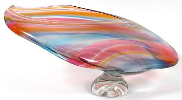 DAVID GOLDHAGEN ART GLASS SCULPTURE - 3