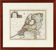 ENGLISH MAP OF THE UNITED PROVINCES EMANUEL BOWEN