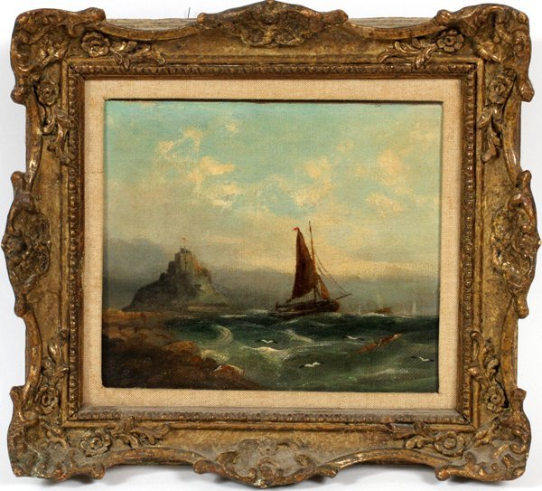 MICHAELS HANNET ENGLISH OIL ON CANVAS C. 1883