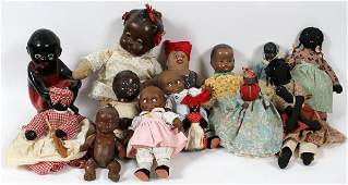 BLACK AMERICANA DOLLS  TOYS OVER 20 PIECES