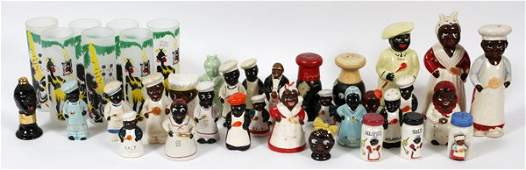 BLACK AMERICANA FIGURAL SALT  PEPPER SHAKERS 60PC
