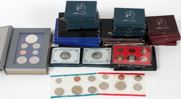 U.S PROOF PRESTIGE UNCIRCULATED COIN SETS 1979-