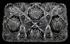 CUT GLASS PLATTER C.1900