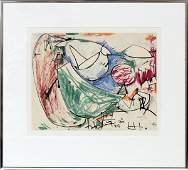HANS HOFMANN CRAYON & INK ON PAPER