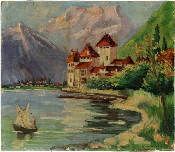 CHARLES CAMOIN OIL ON ARTIST BOARD