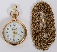 AMERICAN WATCH COMPANY WALTHAM 14KT POCKET WATCH