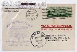 U.S. .50C ZEPPELIN STAMP 1ST-DAY COVER SCOTT
