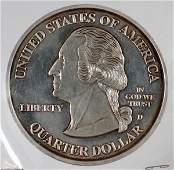 U.S. QUARTER COMMEMORATIVE .999 STERLING MEDAL