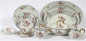 LIMOGES OLD ABBY PORCELAIN PARTIAL DINNER SERVICE