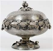 SILVER PLATE COVERED CENTERPIECE BOWL