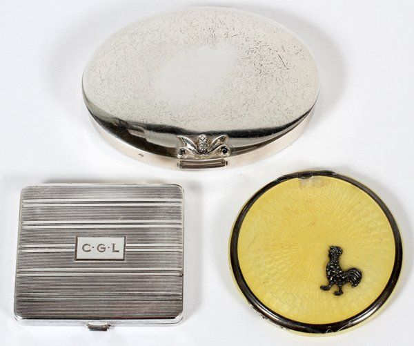 TIFFANY & CO. AND OTHER STERLING COMPACTS C. 1930