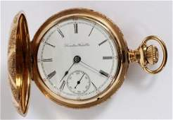 HAMILTON WATCH CO GOLD FILLED POCKET WATCH 135850